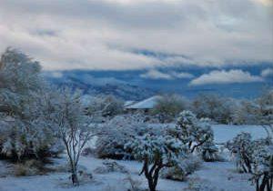 Snow Falls on Tucson, Multiple Road Closures